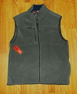 NWT IZOD Men's Fleece Vest Jacket Size Large L Gray Stone NE