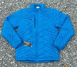 NWT Under Armour Men's Coldgear Reactor Puffer Jacket Blue