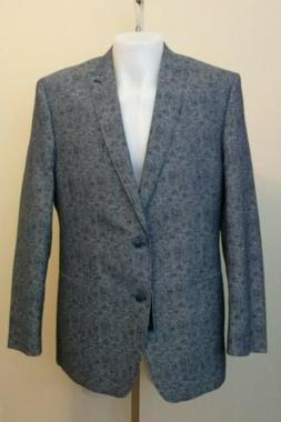 NWT Van Heusen Mens Modern Fit Blue Paisley Sports Coat Jack