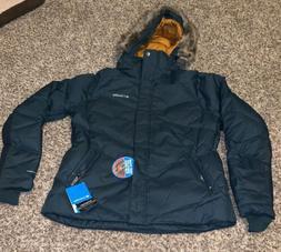 NWT Columbia Navy Women's Lay 'D' Down Jacket XL $230