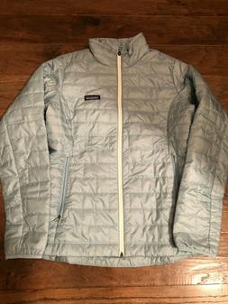 NWT Women's Patagonia Nano Puff Jacket Size Large Big Sky Bl