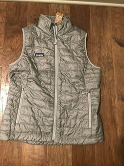 NWT Women's Patagonia Nano Puff Vest Size Large Feather Grey