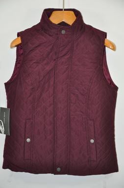 NWT Women's Nine West, Quilted Vest Jacket. Size M -Light We