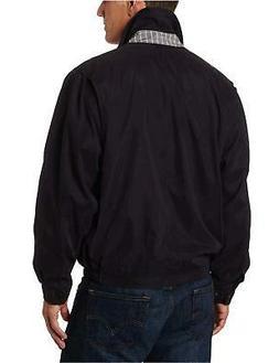 London Fog Lightweight Microfiber Golf Jacket L, Black