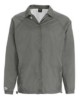 Rawlings Nylon Coach's Jacket, Steel, Large