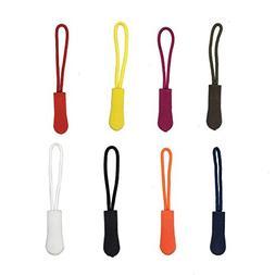 80PCS Nylon Zipper Pull Long Cord Extension for Backpacks, J