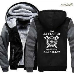 Odin Vikings Hoodies Mens Fashion Winter Fleece Thick Warm J