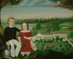 Oil Painting 'Calvin Balis,Eorge And Emma Eastman,1850' Prin