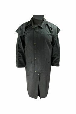 Duster Oilskin Coat Jacket Cotton Waterproof Black / Brown