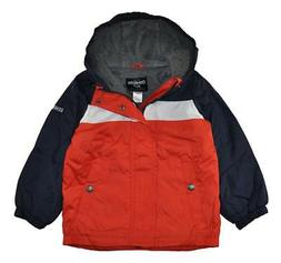 Osh Kosh B'gosh Boys Chest Stripe Fleece Lined Jacket Size 4