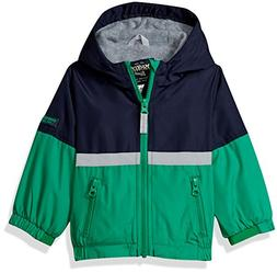 Osh Kosh Baby Boys Midweight Fleece Lined Jacket, Green, 18M