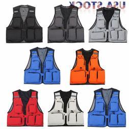 Outdoor Fishing Vest Photography Waistcoat Multi-Pockets Hik