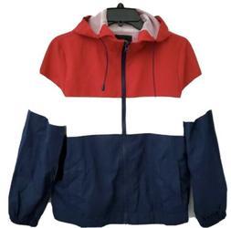 Ambiance Outerwear Hooded Windbreaker Jacket NWT