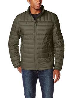 Tommy Hilfiger Men's Packable Down Jacket, Olive, Large