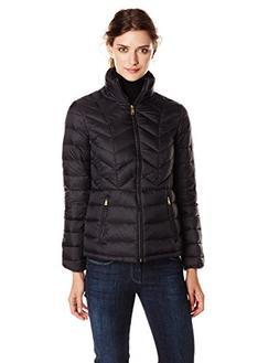 London Fog Women's Packable Down Jacket, Black, Small