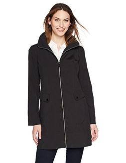 Lark & Ro Women's Packable Hooded Jacket, Black, S