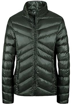 Wantdo Women's Packable Lightweight Down Jacket Padded Winte