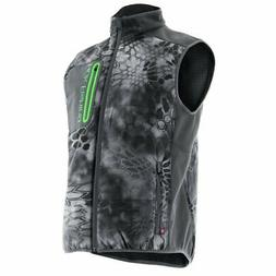 Huk Performance Kryptek Tetra Gray Camo Fishing Vest Jacket