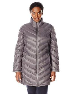 Calvin Klein Women's Plus-Size Chevron-Quilted Packable Down