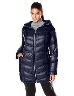 Calvin Klein Women's Plus-Size Mid-Length Packable Chevron D