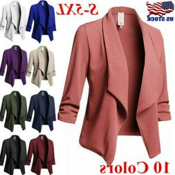 Women's Plus Size OL Suit Slim Blazer Jacket Coat Top Outwea