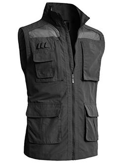 H2H Mens Pockets Jacket Outdoors Travels Sports Vest Tops Ch