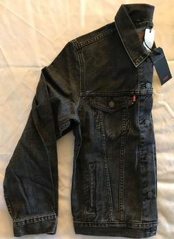Levis Premium Trucker Jacket Fegin Grey Faded Black Mens NEW