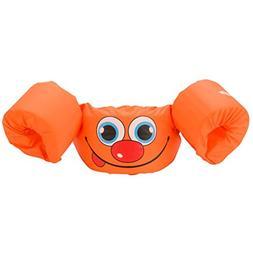 Stearns Puddle Jumper Basic Life Jacket, Orange Smile, 30-50