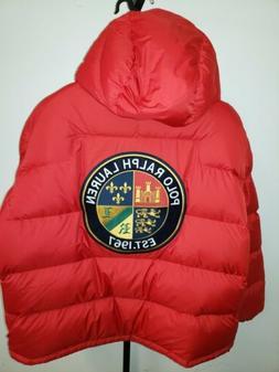 Polo Ralph Lauren Puffer Hooded Jacket Mens 3XL Big Tall Pat