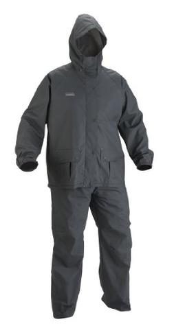 Coleman Men's 35mm PVC/Poly Rain Suit, Gray, Large