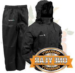 Frogg Toggs All Sport Rain Suit, Black Jacket/Black Pants, S