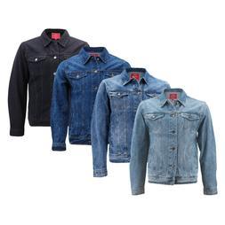 Red Label Men's Premium Casual Faded Denim Jean Button Up