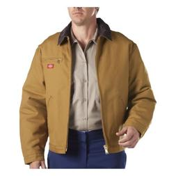 Dickies Men's Rigid Duck Blanket Lined Jacket, Brown Duck, E