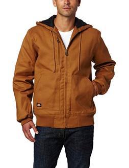 Mens Dickies Rigid Duck Hooded Jacket - Brown Duck XL, Brown
