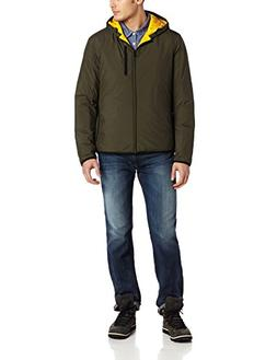 Victorinox Men's Rigton Hooded Jacket, Olive, Large