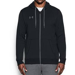 Under Armour Men's Rival Fitted Full Zip, Black/Black, XXX-L