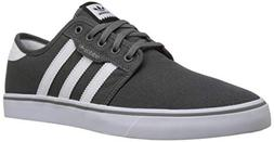 adidas Originals  Men's Seeley Skate Shoe,Ash Grey/White/Bla