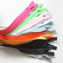 YaHoGa 10PCS 28 Inch  Separating Jacket Zippers for Sewing C