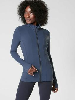 ATHLETA Shanti Jacket  M Medium | Iron Blue Powervita Yoga $