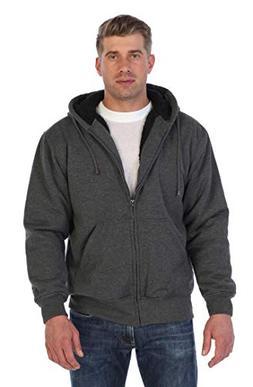 Gioberti Mens Sherpa Lined Pull Zip Fleece Hoodie Jacket, Ch