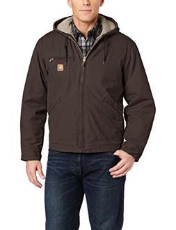 Carhartt Men's Sherpa Lined Sandstone Sierra Jacket J141,Dar