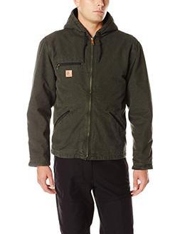 Carhartt Men's Sherpa Lined Sandstone Sierra Jacket J141,Mos