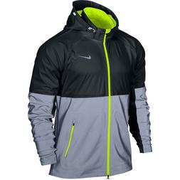 Nike Men's Shield Flash Jacket - Small - Black/Reflective Si