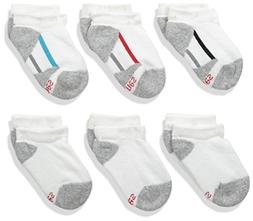 Hanes Boys No Show Comfortblend White EZ Sort Socks 434/6, W