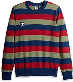 adidas Originals Men's Skateboarding Striped Sweater, Navy/C