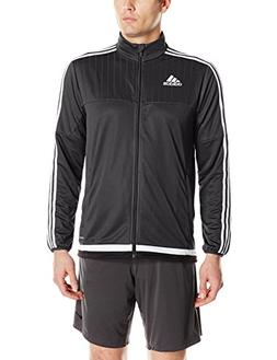 adidas Men's Soccer Tiro 15 Training Jacket, Black/White/Bla