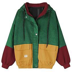HHei_K Womens Stitching Coat, Ladies Fashion Patchwork Long
