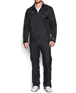 Under Armour Men's Storm Golf Rain Suit, Black /Steel, X-Lar