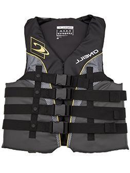O'Neill mens Superlite USCG life vest XXXL Black/graphite/sm
