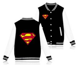 superman baseball jackets funny fleece sweatshirts men/boy c